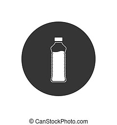 Bottle icon in trendy flat design.