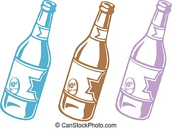 bottle icon on white background