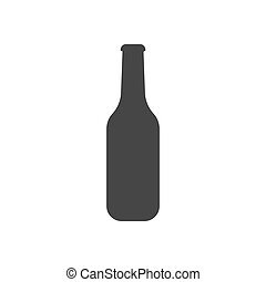 Bottle illustration silhouette