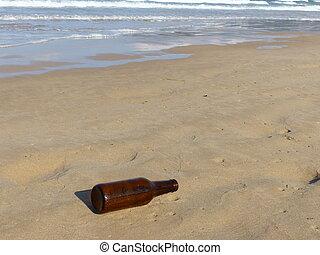 Bottle in the beach