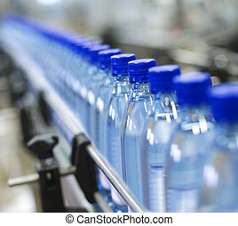 Bottle industry - Close up from a bottle industry