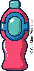Bottle juice icon, cartoon style