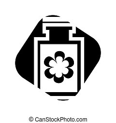 bottle lotion spa isolated icon