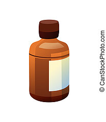 Bottle Made of Glass and Label Vector Illustration