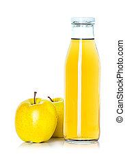 bottle of apple juice