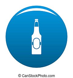 Bottle of beer icon blue