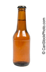 bottle of beer isolated on a white background