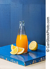 Bottle of citrus lemonade