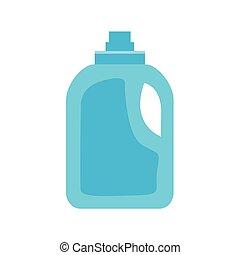 Bottle of cleanser on white background , vector