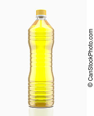 Bottle of cooking oil isolated on a white background
