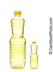 Bottle of cooking oil isolated on white