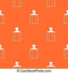 Bottle of female perfume pattern seamless