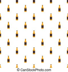 Bottle of german beer pattern seamless