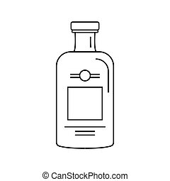 Bottle of gin icon, outline style - Bottle of gin icon....