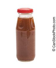 Bottle of juice isolated on white background