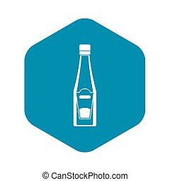 Bottle of ketchup icon, simple style