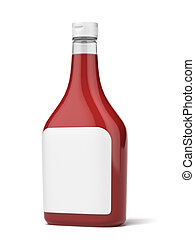 Bottle of Ketchup   isolated on a white background