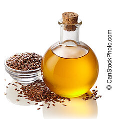 Bottle of linseed oil