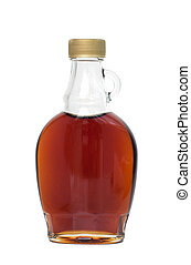 maple syrup - Bottle of maple syrup, isolated on white