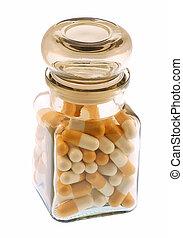 Bottle of medical pills