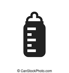 bottle of milk baby icon symbol
