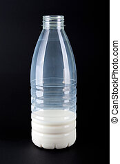 Bottle of milk - Healthy dairy drink product - bottle of...