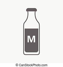 bottle of milk vector icon