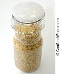 Bottle of Minced Dried Garlic