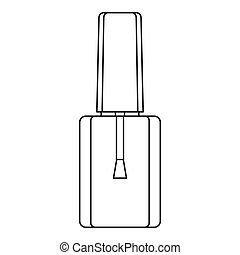 Bottle of nail polish icon, outline style