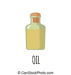 Bottle of oil icon.