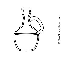 Bottle of oil icon. Spa center design. Vector graphic