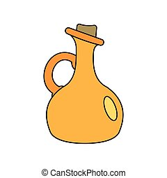 Bottle of olive oil cartoon icon
