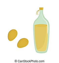 Bottle of olive oil vector flat vector isolated on white background