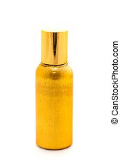 Bottle of perfume on a white background