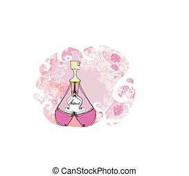 Bottle of perfume with a floral aroma
