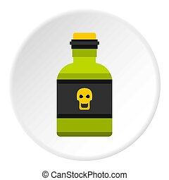 Bottle of poison icon circle