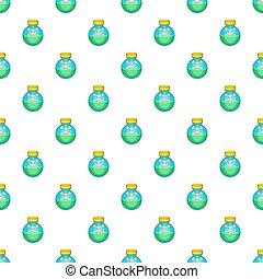 Bottle of poison pattern, cartoon style