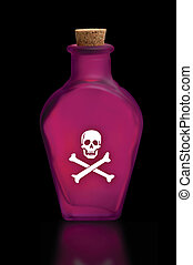poison - Bottle of poison with skull and crossbones on the...