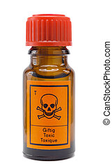 poison - bottle of poison with warning sign