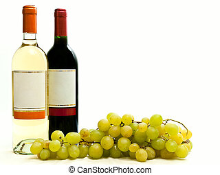 red and white wine with vine