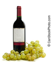 red wine with vine