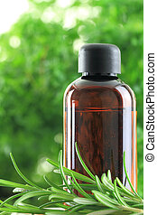 Bottle of Rosemary essential oil
