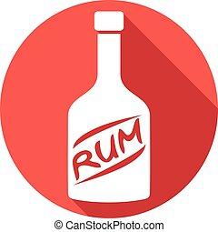 bottle of rum flat icon