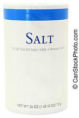 Bottle of Salt Blank Label Add Text