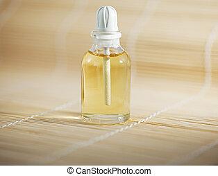 Bottle of spa oil