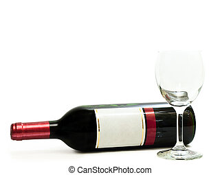 red wine with wineglass