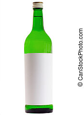 vermouth - bottle of the vermouth isolated on white ...