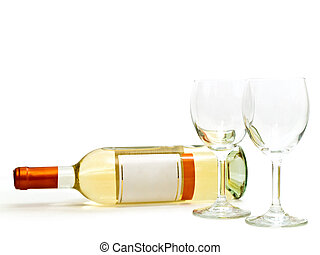 white wine with wineglasses