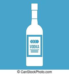 Bottle of vodka icon white