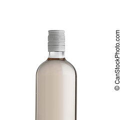 Bottle of vodka isolated on a white background
